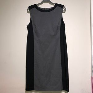 Ann Taylor Black and Gray Career Dress
